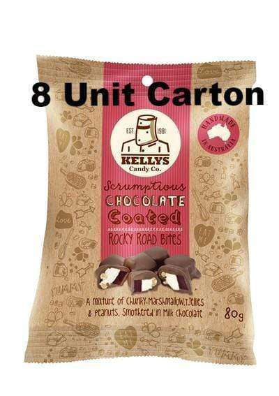 Kelly's Rocky Road Bites 8 x 80 Gm Bags - Goody Goody Gum Drops
