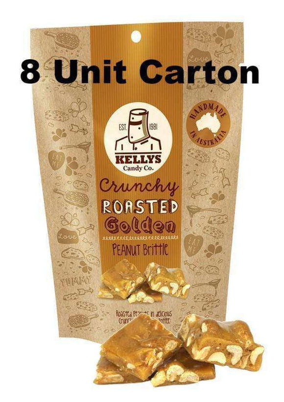 KELLY'S PEANUT BRITTLE - 8 x 200 Gm POUCHES |