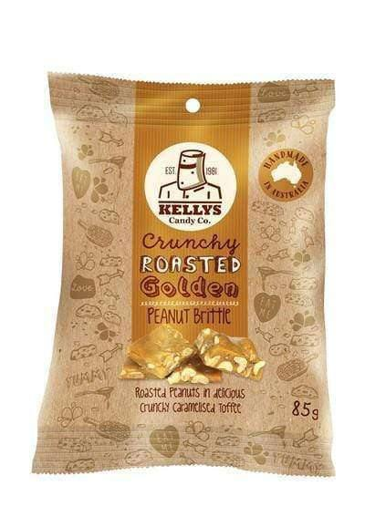 Kelly's Peanut Brittle (8 x 85 Gm bags) - Goody Goody Gum Drops