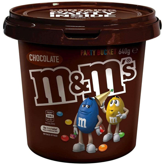M&M Party Bucket 640 Gm - Goody Goody Gum Drops