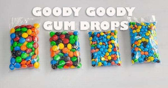 M&M Promo Bags for your business (100 x 50 Gm Bags) - Goody Goody Gum Drops
