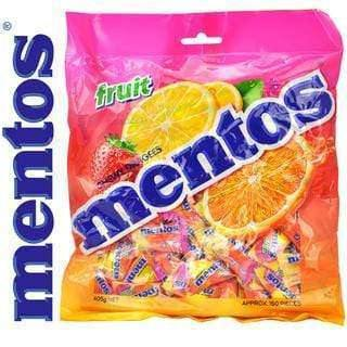 Mentos FRUITS Pillow Packs Bulk Box 2000 pieces - Goody Goody Gum Drops