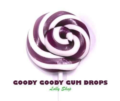 Purple & White Gourmet Lollipops 5 cm (Pack of 25) Goody Goody Gumdrops Pty Ltd