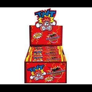 TNT CONFECTIONERY > SOUR TNT Sour Chew Bars Red Raspberry Shock
