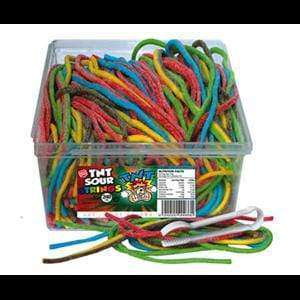 TNT CONFECTIONERY > STRAPS & STICKS TNT Sour Strings Multicolour
