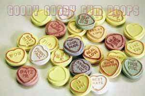 Love Hearts - Conversation Hearts - 200 Lollies - Goody Goody Gum Drops