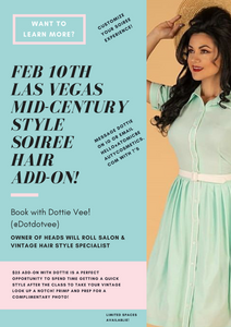 One On One Hair Add-On with Dottie Vee at the Las Vegas Style Soiree