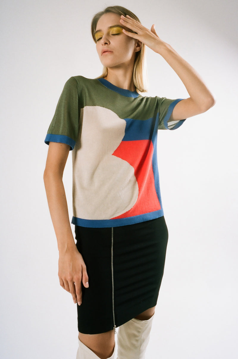 Upcycled Sheer Panel T-Shirt | Top | 22 Factor