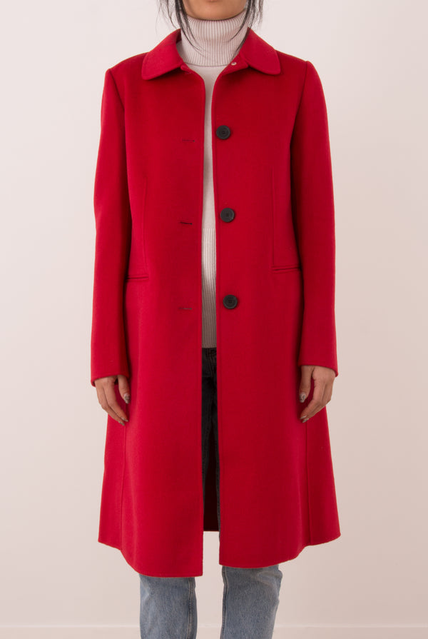 Eve Double-Face Cashmere Car Coat - Red