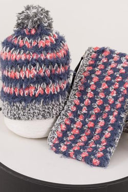 22 Factor | Ciao Crochet Beanie & Clutch Schausse Pink Gift Set