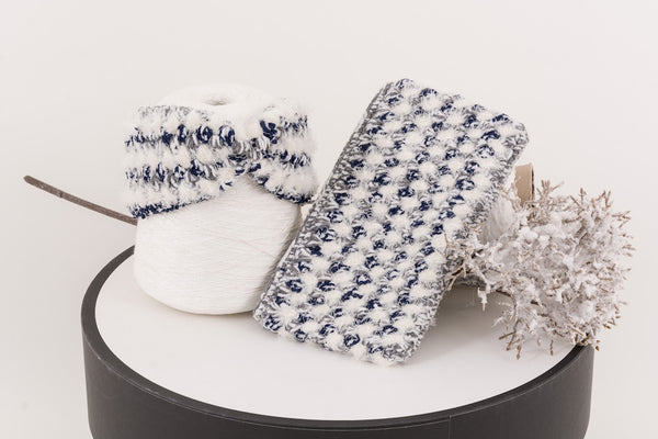 22 Factor | Hola Crochet Headband & Clutch Grey Blue Gift Set