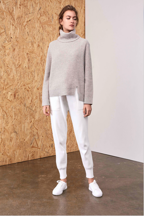 Athena Cashmere Pullover Heather Mink | 22 Factor | ECO-LUXE knitwear