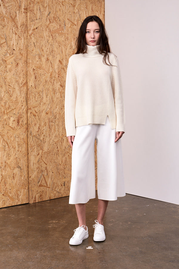 Athena Cashmere Pullover Ivory | 22 Factor | ECO-LUXE knitwear