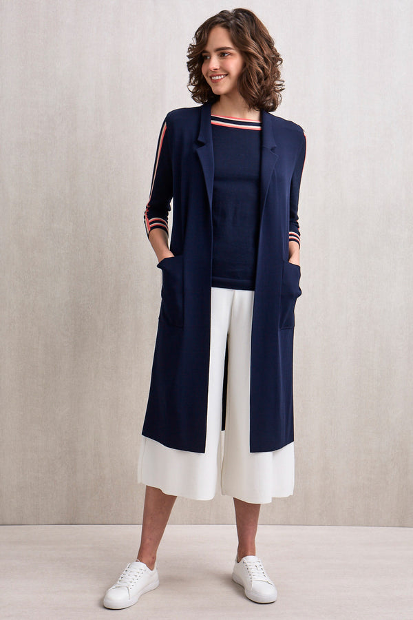 Hazel Sleeveless Open Trench Navy