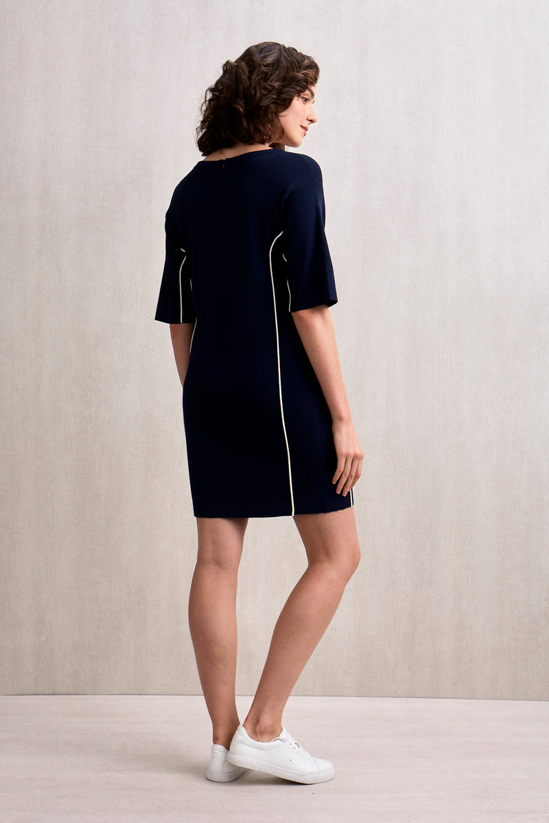 Daisy Knit Dress Navy