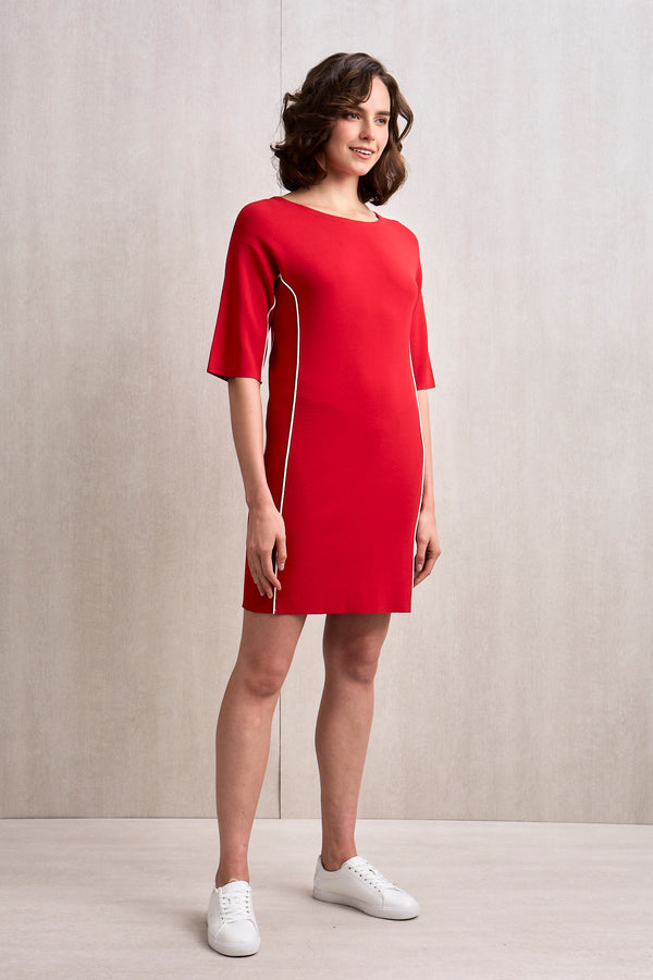 Daisy Knit Dress Red