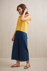 Lillie Ruffle Tank Top Mustard Yellow | 22 Factor