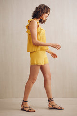 Ali Knit Bermuda Shorts Yellow | 22 Factor