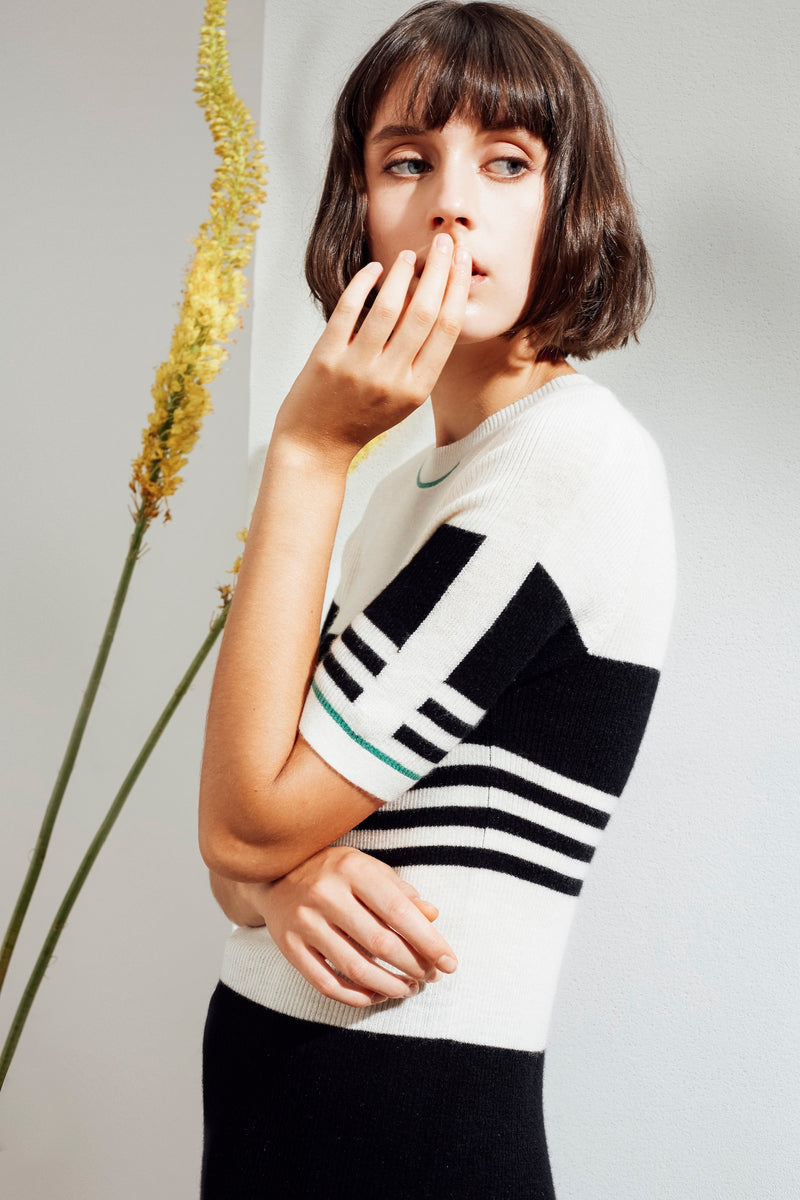 Eira Feather Cashmere Rib Top | 22 Factor | ECO-LUXE knitwear