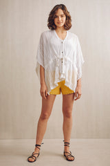 Etain Knitted Lace Kaftan White | 22 Factor