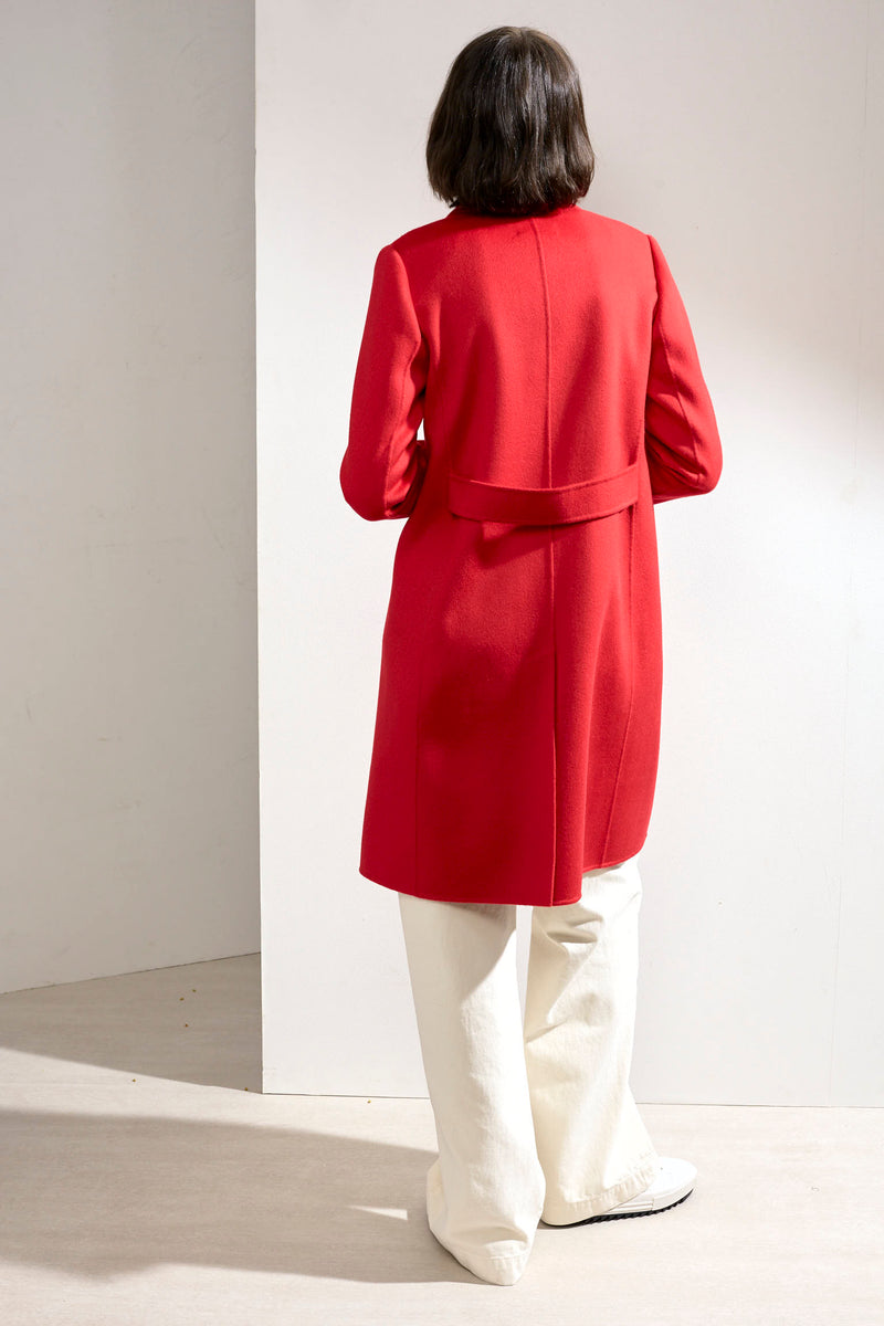 Eve Double-faced Cashmere Car Coat Red