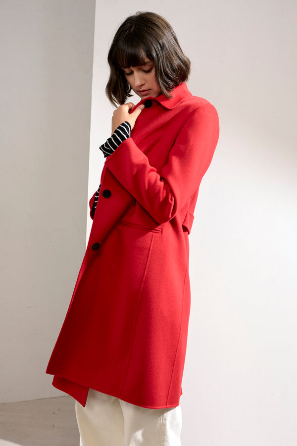 Eve Double-face Cashmere Car Coat Red