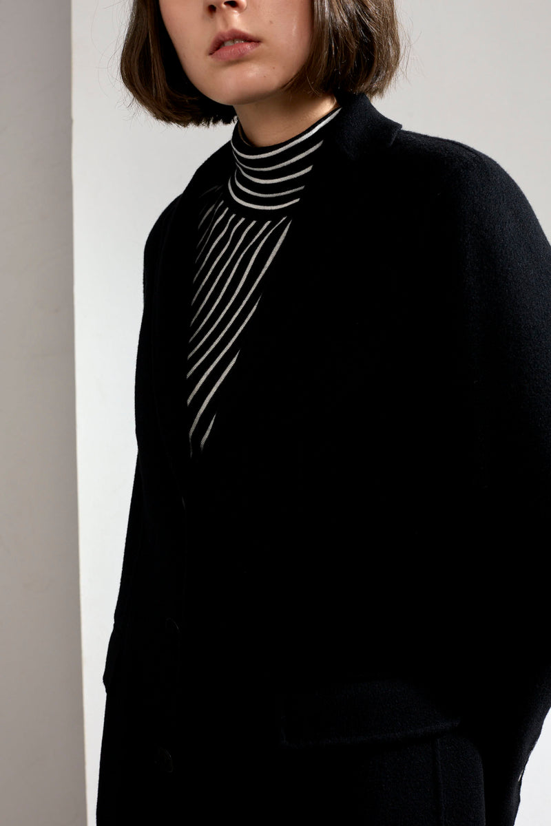 Sophie Double-faced Cashmere Tailored Coat Black