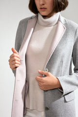 Sophie Double-faced Cashmere Tailored Coat Grey/Pink