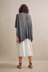 Etain Knitted Lace Kaftan Charcoal | 22 Factor