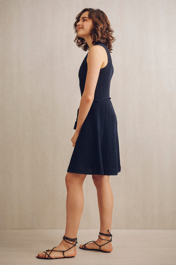 Ida Sleeveless Knit Dress Navy | 22 Factor