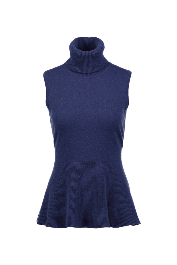 Daphne Sleeveless Cashmere Top Navy | 22 Factor | ECO-LUXE knitwear