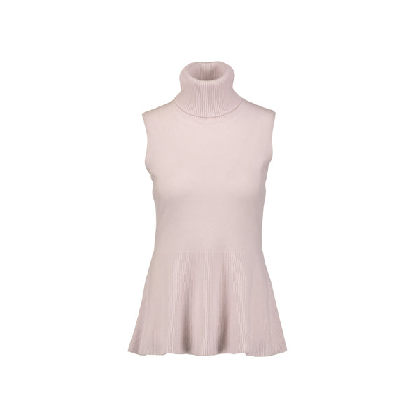 Daphne Sleeveless Cashmere Top Oyster | 22 Factor | ECO-LUXE knitwear