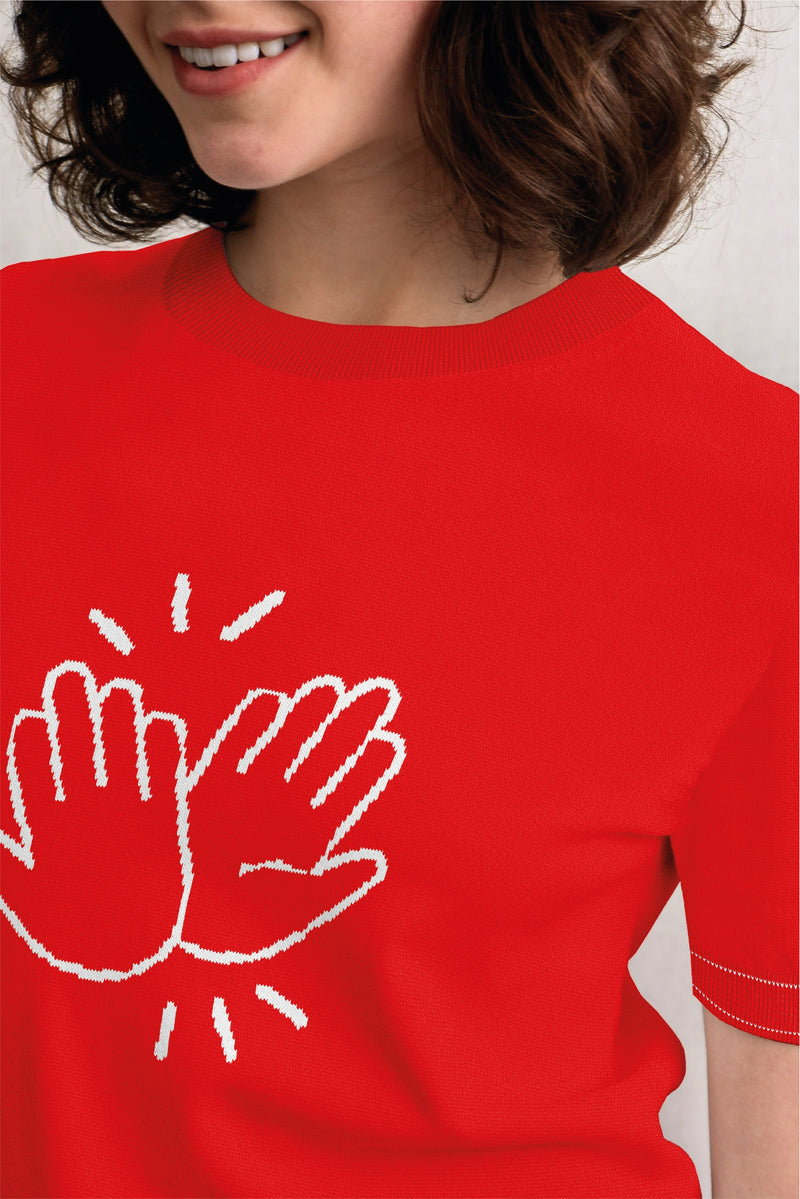 Pre-Order Special! Hi Five Short Sleeves Knit Top