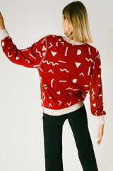 Unisex Reversable Sweater Red/Beige