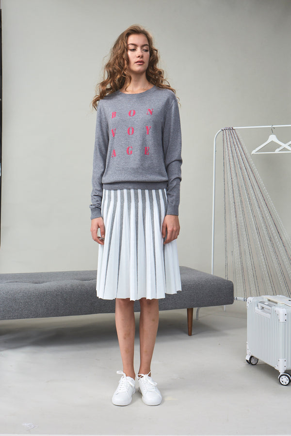 'Bon Voyage' Knit Sweater Grey | 22 Factor | ECO-LUXE knitwear