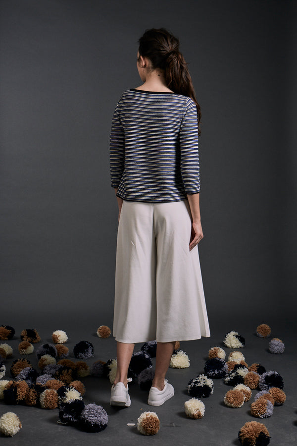 Thalia Textured Stripe Top Blue Mix | 22 Factor | ECO-LUXE knitwear