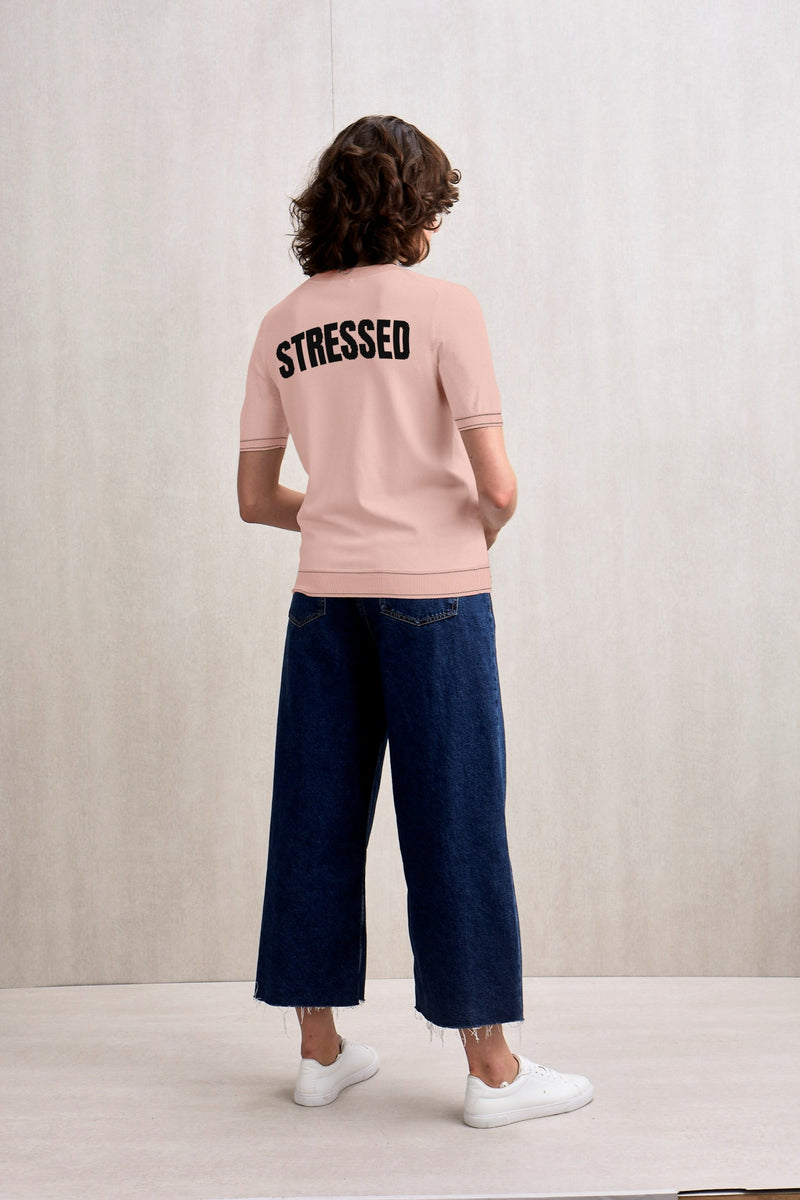 Stressed is desserts spelled backwards Short Sleeves Knit Top