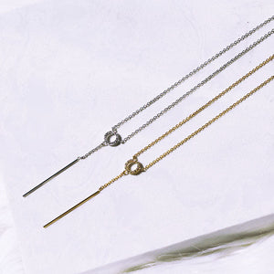 Dainty Lariat Necklace