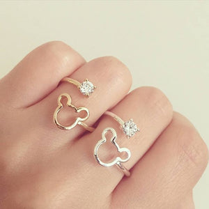 Mickey Mouse Rhinestone Ring