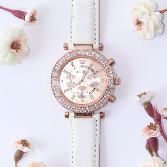 Peach Rose Gold Watch