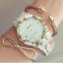 Load image into Gallery viewer, Floral August Metal Watch