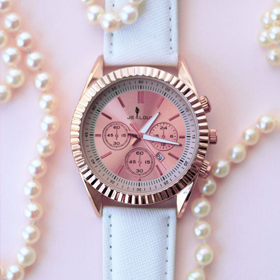Gorgeous Rose Gold Dial Watch