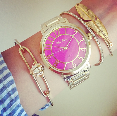 Pink Dial Watch