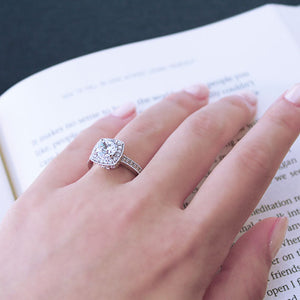 Rhinestone Engagement Ring