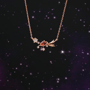 Shooting Star Birthstone Necklace