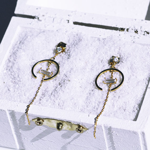 Center Stone Earrings