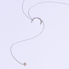 Load image into Gallery viewer, Crescent Moon Star Necklace