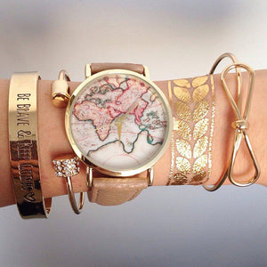 Adorable World Map Watch