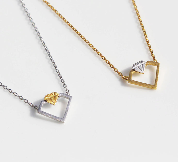 Diamond Cutout Necklace