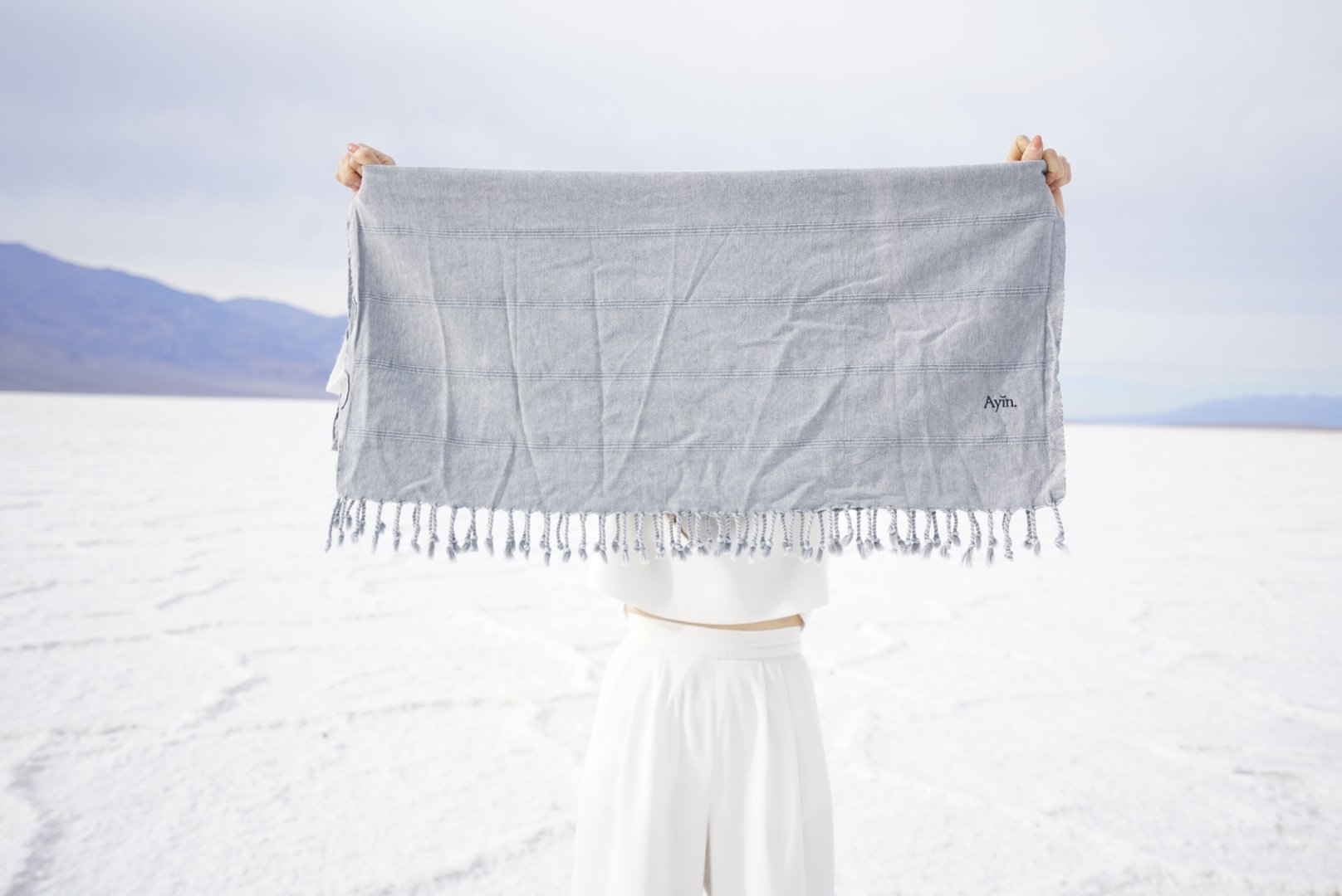 Organic Turkish Towel, Stonewashed